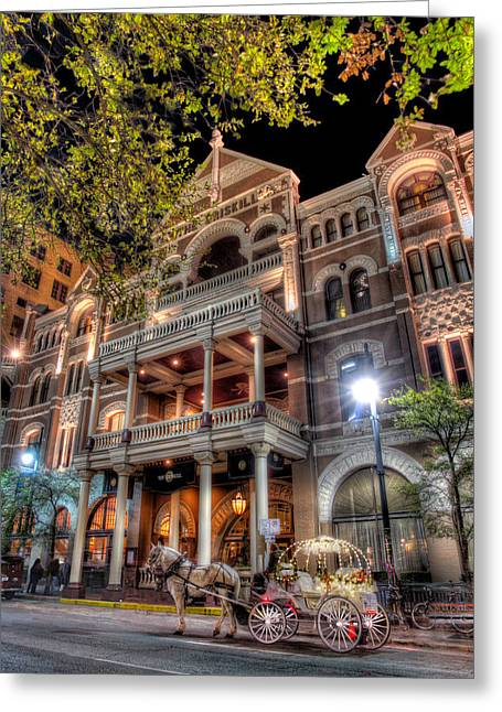 South By Southwest Greeting Cards - The Driskill Hotel Greeting Card by Tim Stanley