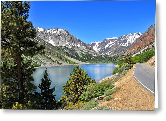 The Drive By Lundy Lake Greeting Card by Lynn Bauer