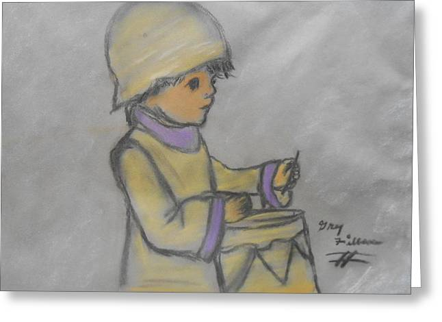 Jesus Pastels Greeting Cards - The Drummer Boy Greeting Card by Gh FiLben
