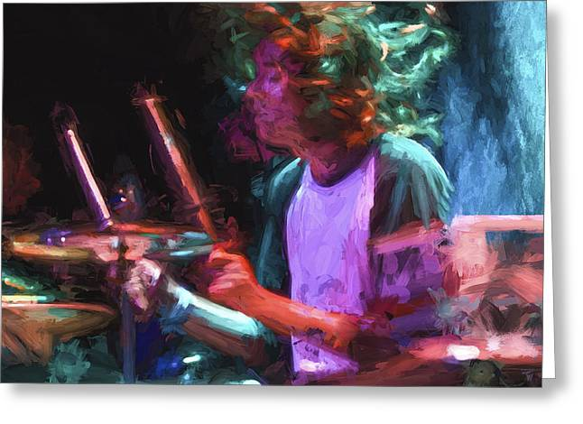 The Drummer II Greeting Card by Vivian Frerichs