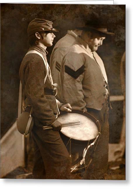 Battle Of Gettysburg Digital Art Greeting Cards - The Drummer Greeting Card by Lori Deiter