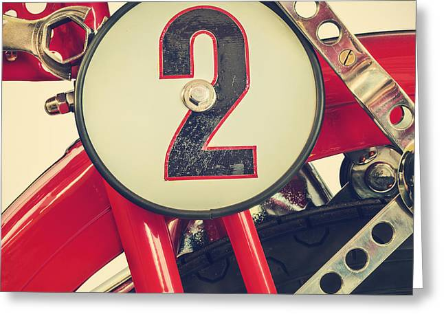 Superbikes Greeting Cards - The Ducati Cucciolo motorcycle IV of IV Greeting Card by Martin Bergsma