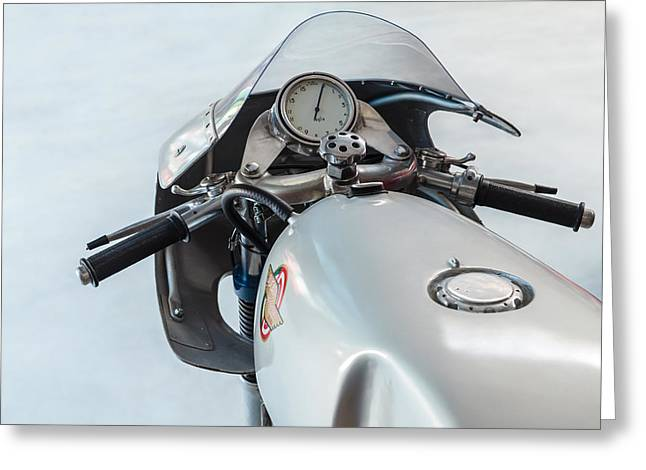 Grey Background Greeting Cards - The Ducati Greeting Card by Martin Bergsma