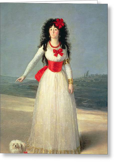 Dog Hair Greeting Cards - The Duchess Of Alba, 1795 Oil On Canvas Greeting Card by Francisco Jose de Goya y Lucientes