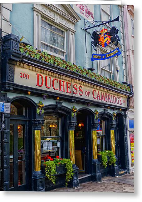 The Duchess Of Cambridge Pub - Windsor England Greeting Card by Mountain Dreams
