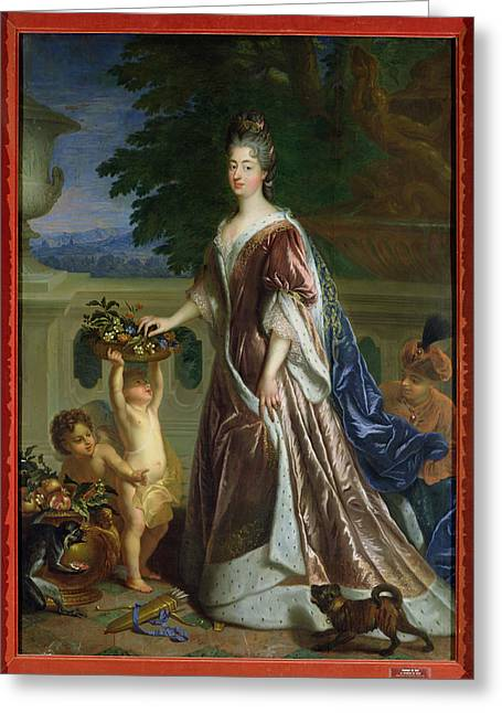Full-length Portrait Greeting Cards - The Duchess Of Maine 1676-1753 Oil On Canvas Greeting Card by Francois de Troy
