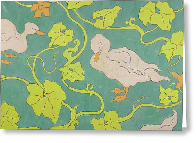 Les Greeting Cards - The Ducks Greeting Card by Paul Ranson