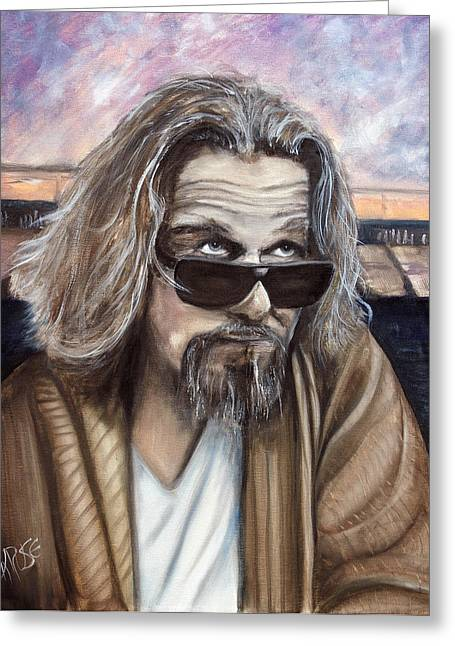 Big Lebowski Paintings Greeting Cards - The Dude Greeting Card by James Kruse