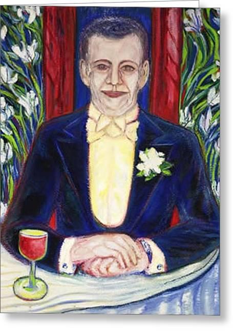 Kunst Handel Greeting Cards - The DUDE  Sculptured Oil Art Deco Greeting Card by Gunter  Hortz