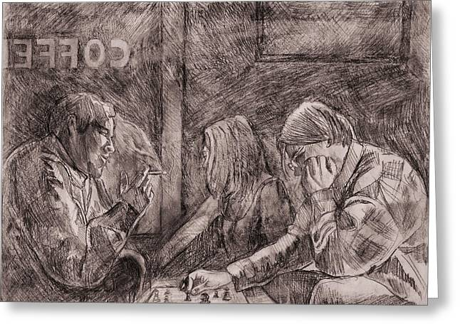 Figure Drawing Greeting Cards - The Duel I Greeting Card by Dave Kobrenski