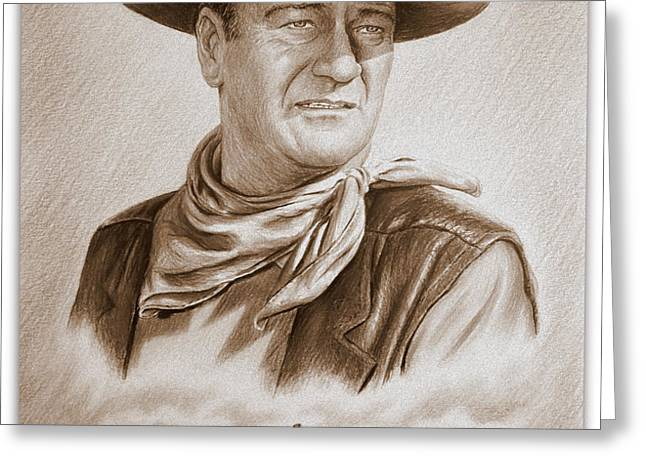 The Duke Captured sepia grain Greeting Card by Andrew Read