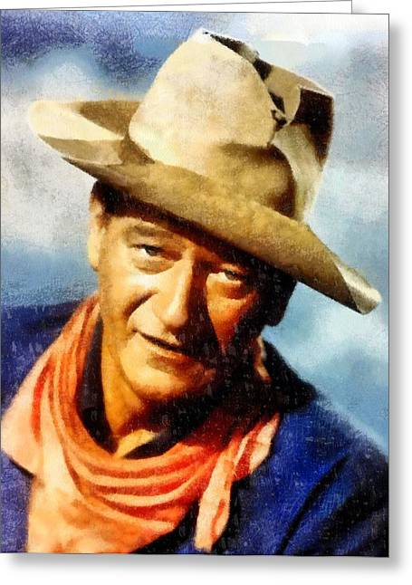 Shootist Greeting Cards - The Duke Greeting Card by Dan Sproul