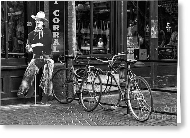 John Wayne Prints Greeting Cards - The Duke in Vancouver Greeting Card by John Rizzuto