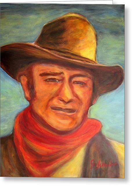 John Wayne Prints Greeting Cards - The Duke Greeting Card by Jodie  Scheller