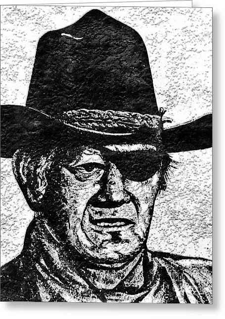 Rooster Cogburn Greeting Cards - The Duke  Greeting Card by Juls Adams