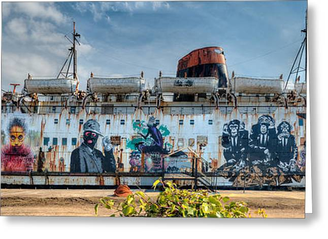 Lancasters Greeting Cards - The Duke of Graffiti Greeting Card by Adrian Evans