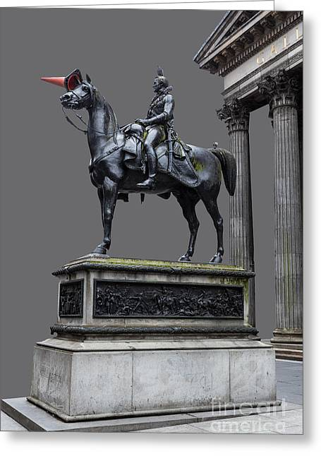 The Duke Of Wellington Goma  Grey Greeting Card by John Farnan