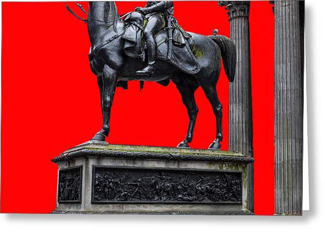The Duke of Wellington Red Greeting Card by John Farnan