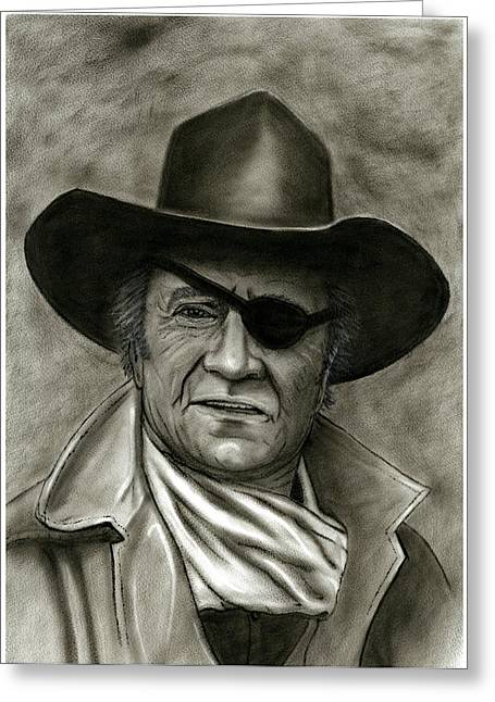 Rooster Cogburn Greeting Cards - The Duke - Rooster Cogburn Greeting Card by Ken Decker