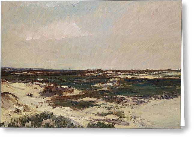 On The Beach Greeting Cards - The Dunes at Camiers Greeting Card by Charles Francois Daubigny