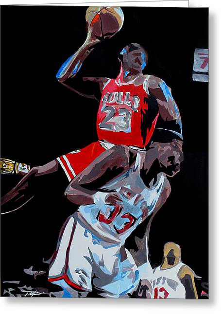 Recently Sold -  - Don Medina Greeting Cards - The Dunk Greeting Card by Don Medina