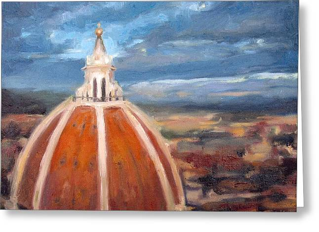 Cupola Paintings Greeting Cards - The Duomo Greeting Card by Erin Rickelton