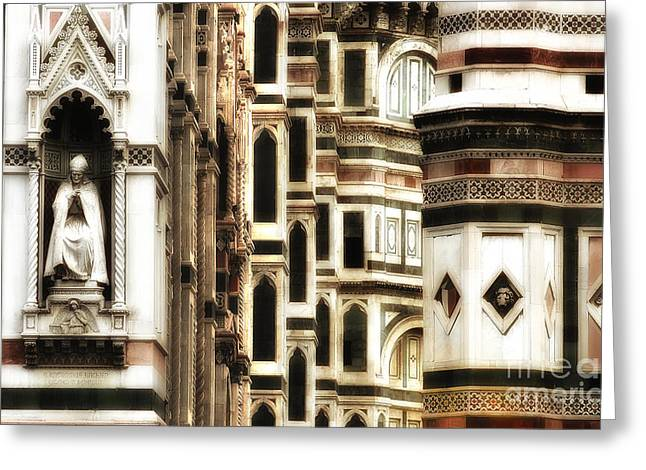 Basillica Greeting Cards - The Duomo Up Close Greeting Card by Mike Nellums
