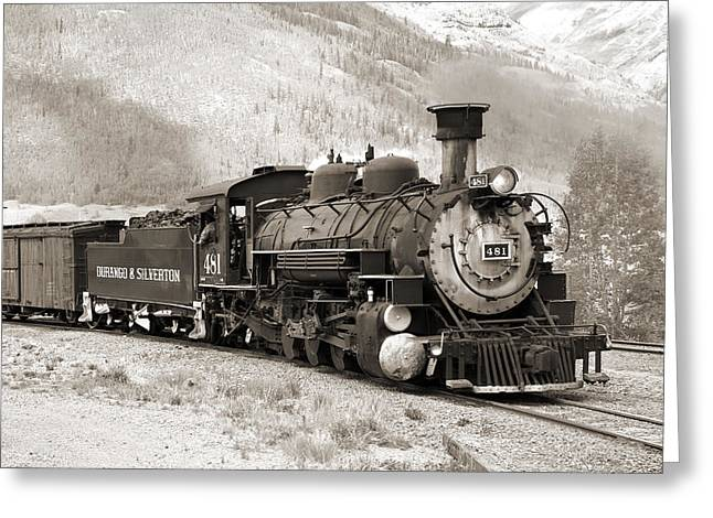 Durango Greeting Cards - The Durango and Silverton Greeting Card by Mike McGlothlen