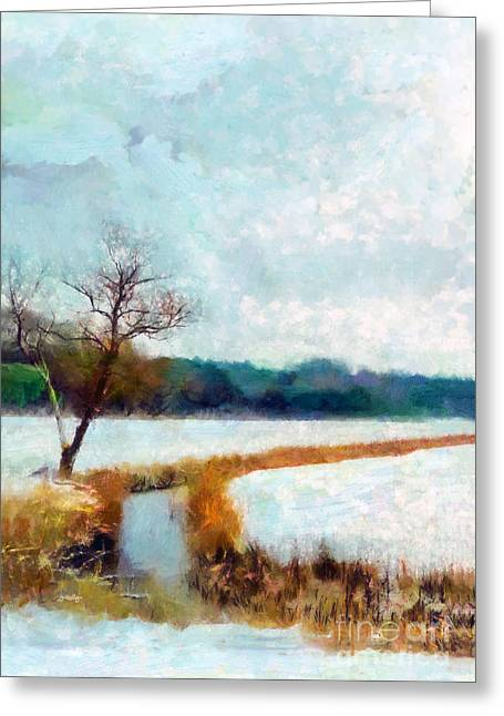 Valzart Greeting Cards - The Dyke Greeting Card by Valerie Anne Kelly