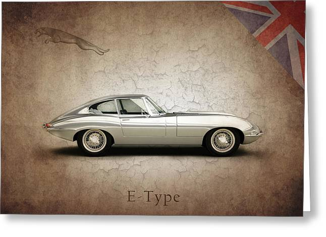Jaguars Greeting Cards - The E Type Greeting Card by Mark Rogan