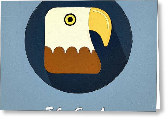 Suburban Posters Greeting Cards - The Eagle Cute Portrait Greeting Card by Florian Rodarte