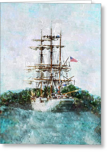 Tall Ships Greeting Cards - The Eagle Has Landed I Greeting Card by Marianne Campolongo