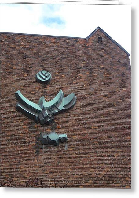 Guy Ricketts Photography Greeting Cards - The Eagle on the Wall Greeting Card by Guy Ricketts