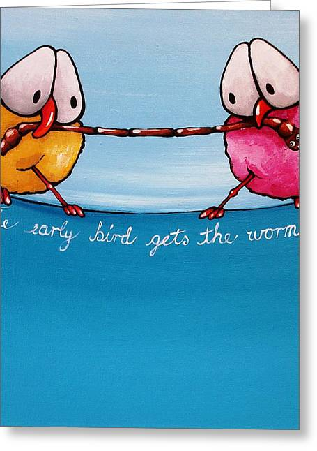 Get Greeting Cards - The Early Bird Greeting Card by Lucia Stewart