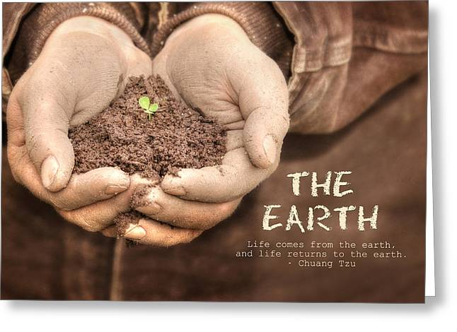 Plant Life Digital Greeting Cards - The Earth Greeting Card by Lori Deiter
