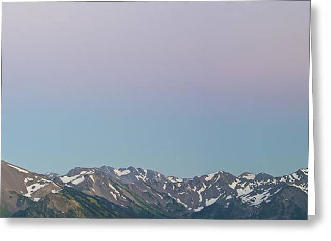 Olympic National Park Greeting Cards - The Earths Shadow Greeting Card by Jon Glaser