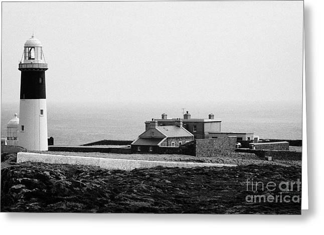 Guglielmo Greeting Cards - The East Light lighthouse and buildings Altacarry Altacorry head Rathlin Island Northern Ireland Greeting Card by Joe Fox