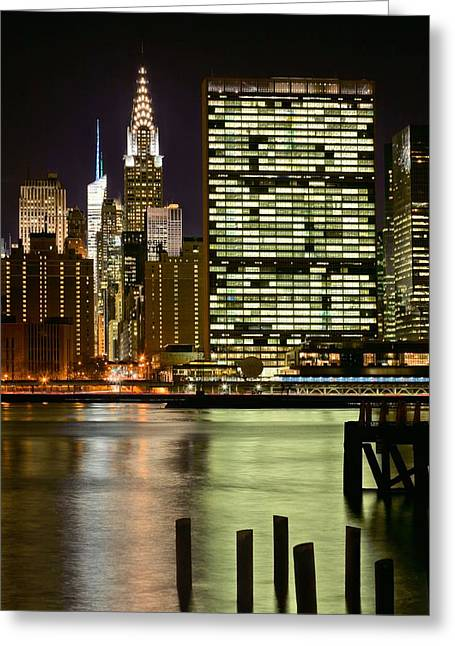 Gotham City Greeting Cards - The East River Greeting Card by JC Findley