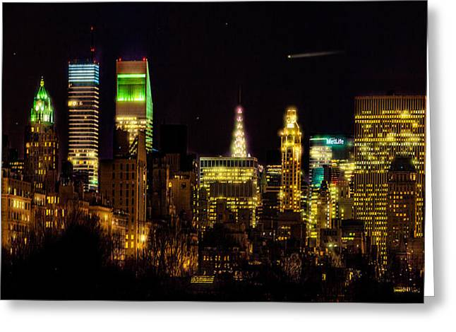 The East Side At Night Greeting Card by Chris Lord