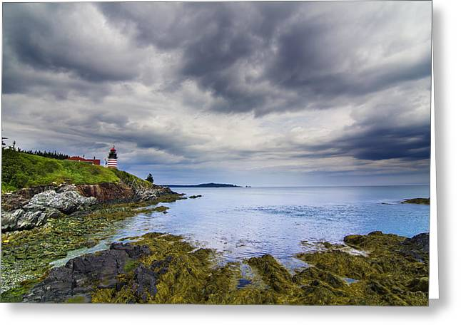 Spring In Maine Photographs Greeting Cards - The eastern most point in the U.S.A  Greeting Card by Mircea Costina Photography