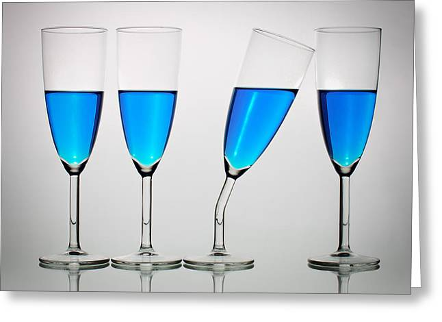 Champagne Glasses Greeting Cards - The Eccentric Greeting Card by Gert Lavsen