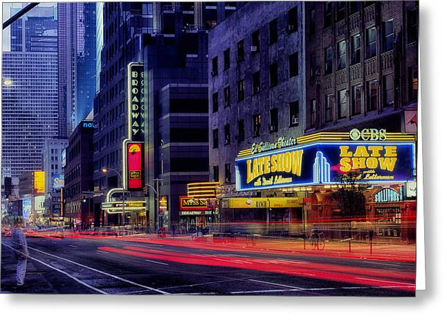 Ed Greeting Cards - The Ed Sullivan Theatre Greeting Card by Mountain Dreams
