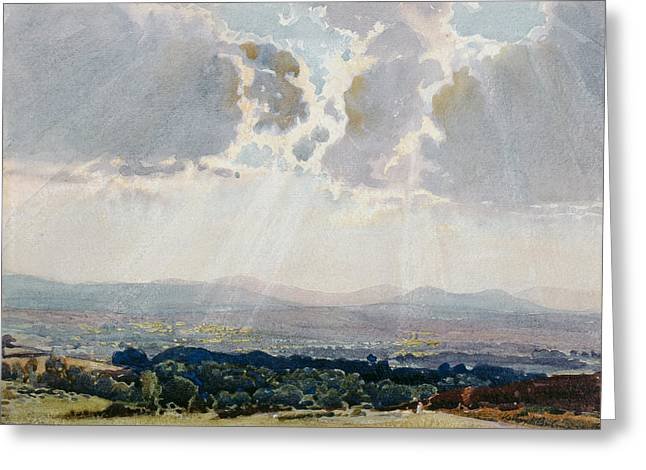 Hills Greeting Cards - The Eden Valley Greeting Card by Henry Herbert Bulman