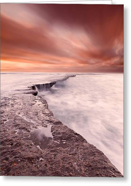 The Edge Of Earth Greeting Card by Jorge Maia