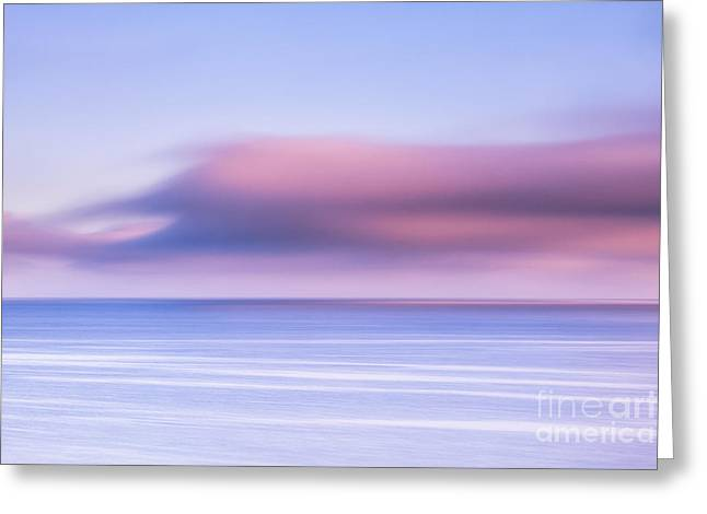 Pale Blue Greeting Cards - The Edge of Night Greeting Card by John Farnan