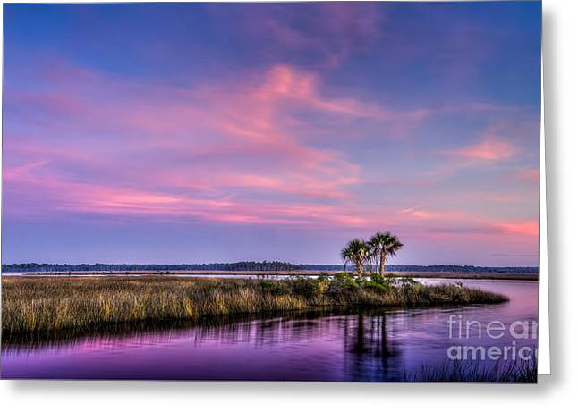 The Edge Of Night Greeting Card by Marvin Spates