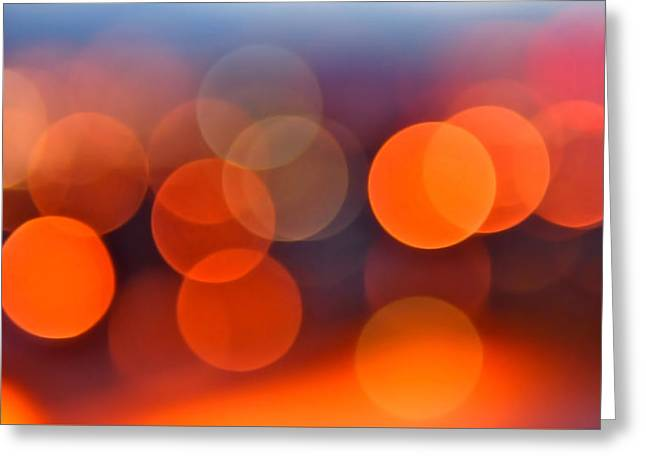 Beautiful Abstracts Greeting Cards - The Edge of Night Greeting Card by Rona Black