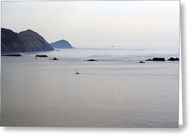 Ocen Landscape Greeting Cards - The Edge of the World Ireland Greeting Card by Glenn Cuddihy
