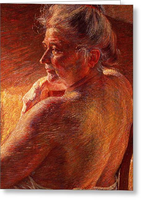 Umberto Boccioni Greeting Cards - The Effect of Sunlight Greeting Card by Umberto Boccioni