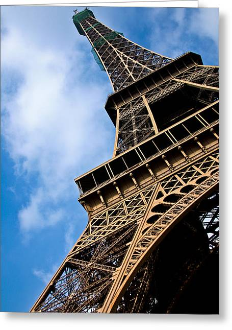 Industrial Icon Photographs Greeting Cards - The Eiffel Tower From Below Greeting Card by Nila Newsom